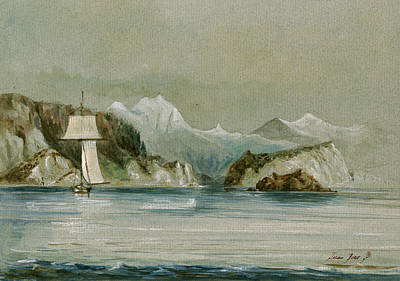 Arctic Painting - Arctic Seascape by Juan  Bosco