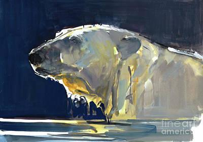 Fluid Painting - Arctic Silhouette by Mark Adlington