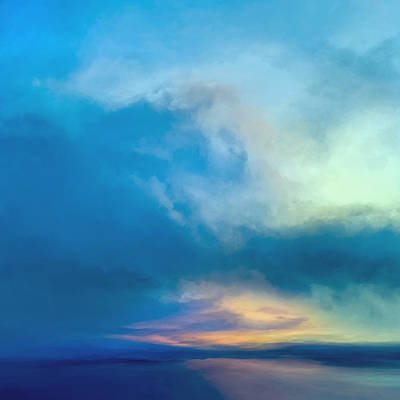 Abstract Landscape Mixed Media - Arctic Sunrise by Lonnie Christopher