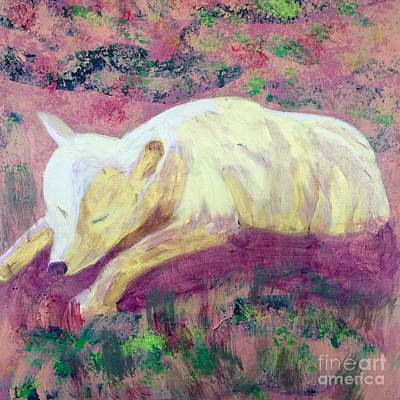Painting - Arctic Wolf by Donald J Ryker III