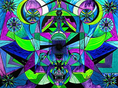 Painting - Arcturian Astral Travel Grid  by Teal Eye Print Store