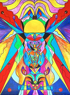 Painting - Arcturian Metamorphosis Grid  by Teal Eye Print Store