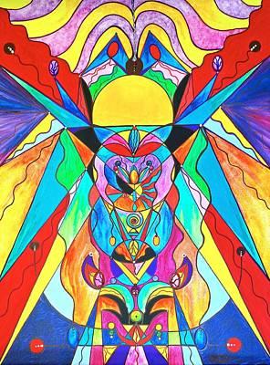 Painting - Arcturian Metamorphosis Grid  by Teal Eye Print Store