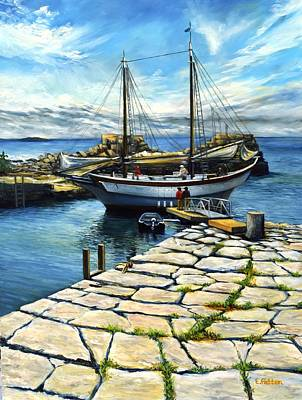 Painting - Ardelle In Lanes Cove by Eileen Patten Oliver