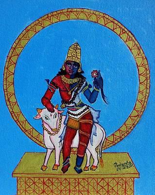 Painting - Ardhanarishwara by Pratyasha Nithin