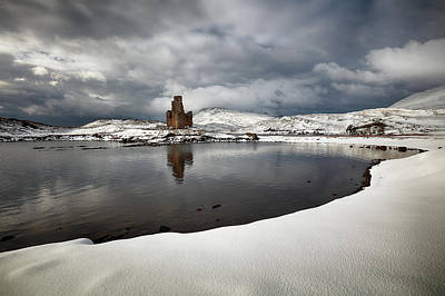 Photograph - Ardvreck Castle In Winter by Grant Glendinning