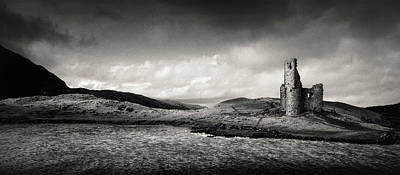 14th Century Photograph - Ardvreck Castle Panorama by Dave Bowman