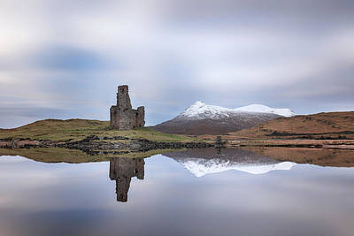 Photograph - Ardvreck Castle Reflection by Grant Glendinning