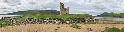 Fantasy Royalty-Free and Rights-Managed Images - Ardvrek Castle Panorama 0842 by Teresa Wilson