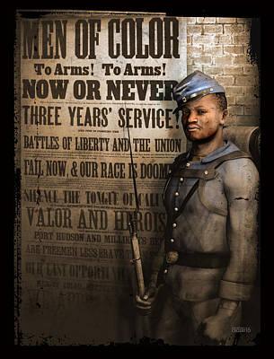 Wall Art - Digital Art - Are Free Men Less Brave Than Slaves? by Darryl Crosby