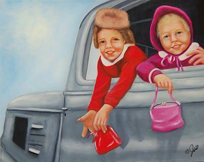 Child Painting - Are We There Yet by Joni McPherson