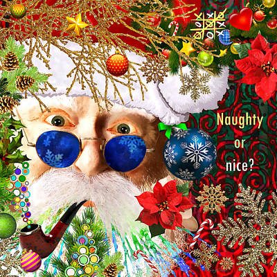 Winter Light Mixed Media - Are You Naughty Or Nice? by Stacey Chiew