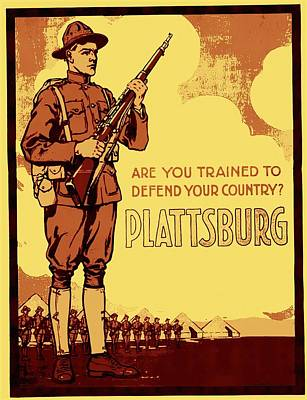 World War One Mixed Media - Are You Trained To Defend Your Country by Otis Porritt