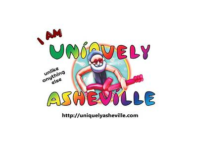 Digital Art - Are You Uniquely Asheville by John Haldane