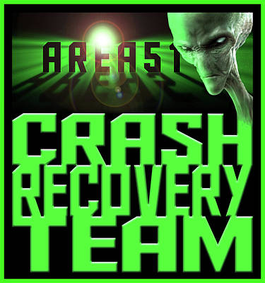 Digital Art - Area 51 Crash Recovery Team by Don Olea