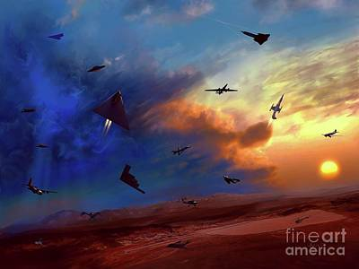 Digital Art - Area 51 Expanded Version by Dave Luebbert