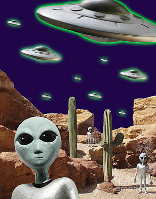 X-files Digital Art - Area 51 by Keith Dillon