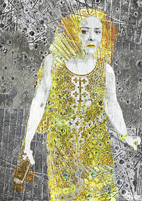 Mixed Media - Area Woman by Tony Rubino