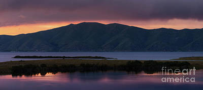 Photograph - Aregunyats Range And Sevan Lake At Sunset, Armenia by Gurgen Bakhshetsyan