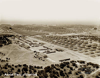 Photograph - Areial View Of Fort Ord Looking Towards Monterey Bay  Circa 1945 by California Views Mr Pat Hathaway Archives