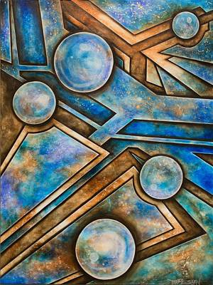 Basketball Abstract Painting - Arena by Tripp Doogan