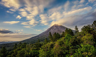 Photograph - Arenal At The Sun's Last Touch by Rikk Flohr