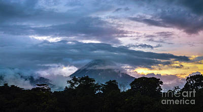 Arenal Photograph - Arenal Under Clouds by Ksenia VanderHoff