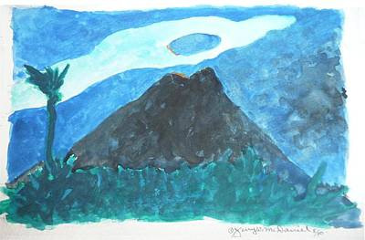 Painting - Arenal Volcano, Costa Rica 2010 by Jerry W McDaniel