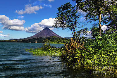 Rights Managed Images - Arenal Volcano Lake Landscape Royalty-Free Image by Norma Brandsberg