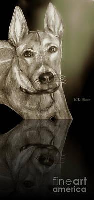 Aren't I Handsome? Art Print by Kimberlee Baxter