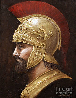 Art Print featuring the painting Ares by Arturas Slapsys