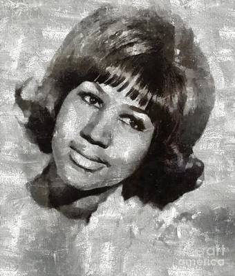 Jazz Royalty-Free and Rights-Managed Images - Aretha Franklin by Mary Bassett by Mary Bassett