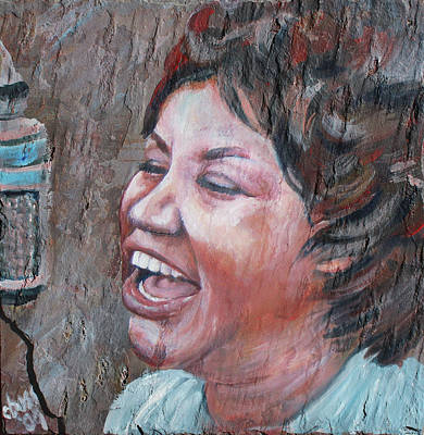 Chain Of Fools Painting - Aretha Franklin by Carol Boss