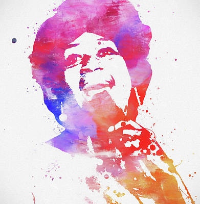 Painting - Aretha Franklin by Dan Sproul
