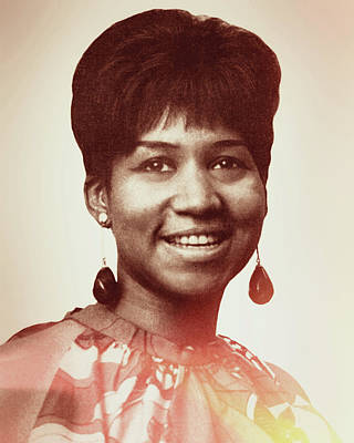 Digital Art - Aretha Franklin I Say A Little Prayer by Anthony Murphy