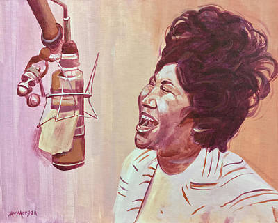 Painting - Aretha Franklin by Michael Morgan
