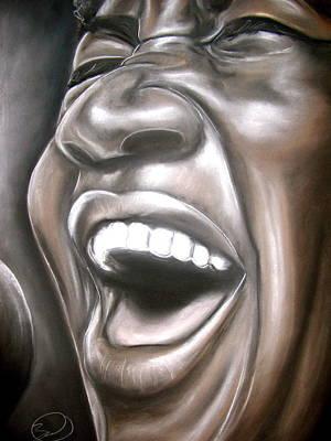 Aretha Franklin Art Print by Zach Zwagil