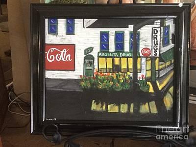 Drug Stores Painting - Argenta Drug Store by Jason Harper