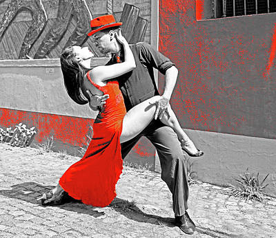 Photograph - Argentine Tango - Red Series by Dennis Cox Photo Explorer