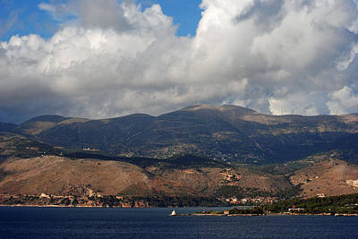 Photograph - Argostoli Mountains by Robert Moss