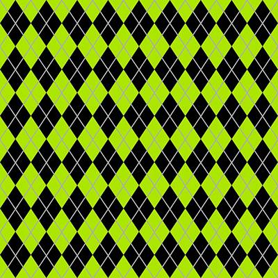 Argyle Diamond With Crisscross Lines In Black N09-p0126 Art Print by Custom Home Fashions