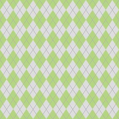Argyle Diamond With Crisscross Lines In Pale Gray N09-p0126 Art Print by Custom Home Fashions