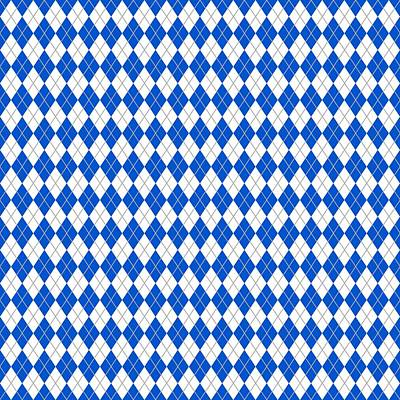 Argyle Diamond With Crisscross Lines In White N18-p0126 Art Print by Custom Home Fashions