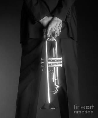 Trumpet Photograph - Ari And Trumpet by Tony Cordoza