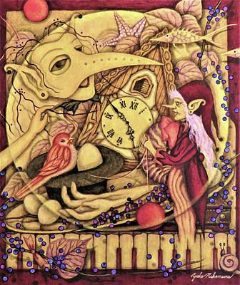 Fairy Poem Wall Art - Painting - Aria Light Of Rosary I Love You  by Yoko Nakamura