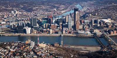 Photograph - Arial Pittsburgh 100 by Emmanuel Panagiotakis