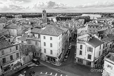 Arial View Photograph - Arial View Of Arles, France, Blk Wht by Liesl Walsh
