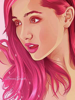 Christina Digital Art - Ariana Painting by Mentari Surya