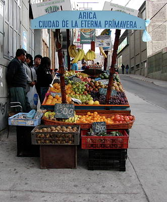 Photograph - Arica Chile Fruit Stand by Brett Winn