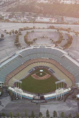Photograph - Ariel Image Of Dodger Stadium by Greg Wyatt